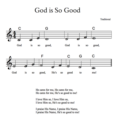 God Is So Good Sheet Music