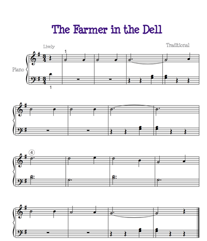 Farmer In the Dell Sheet Music
