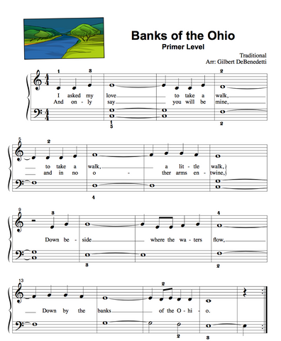 Banks of Ohio Piano sheet music