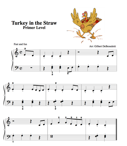 Turkey in the Straw Piano Sheet music