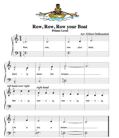 Row row row your boat Sheet music
