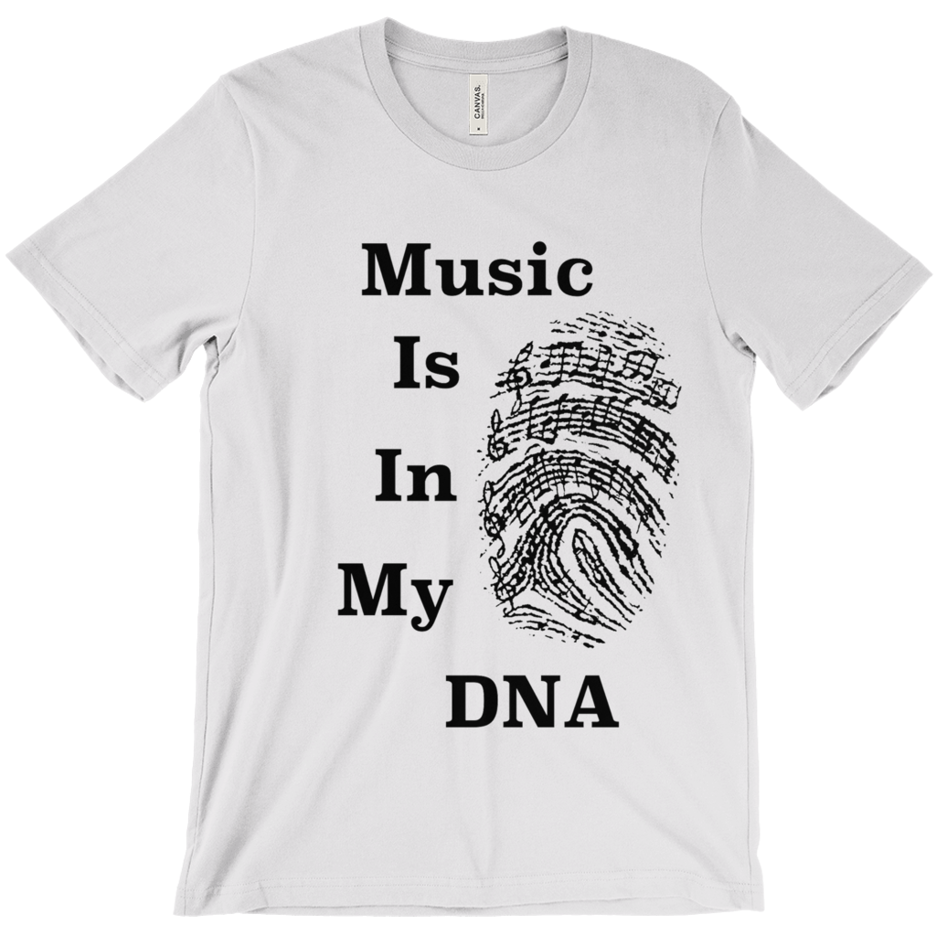 Music Themed T Shirts - Music Is In My DNA - Unisex