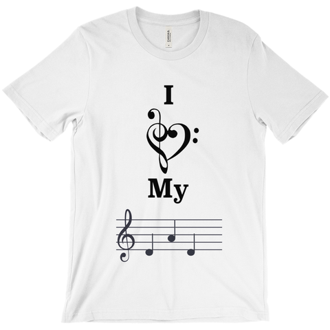 Music Themed T Shirts - I Love My Dad - Unisex