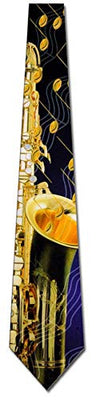 Saxophone and Music Notes Tie Mens Neckties