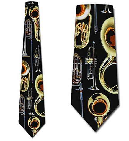 Brass Instruments Tie Mens Necktie