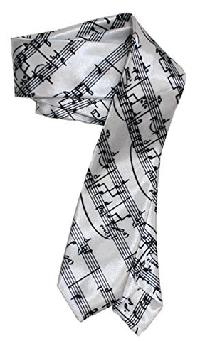 Amazon.com: Ted and Jack - Music Man Skinny Look Novelty Tie (White Notes): Gateway