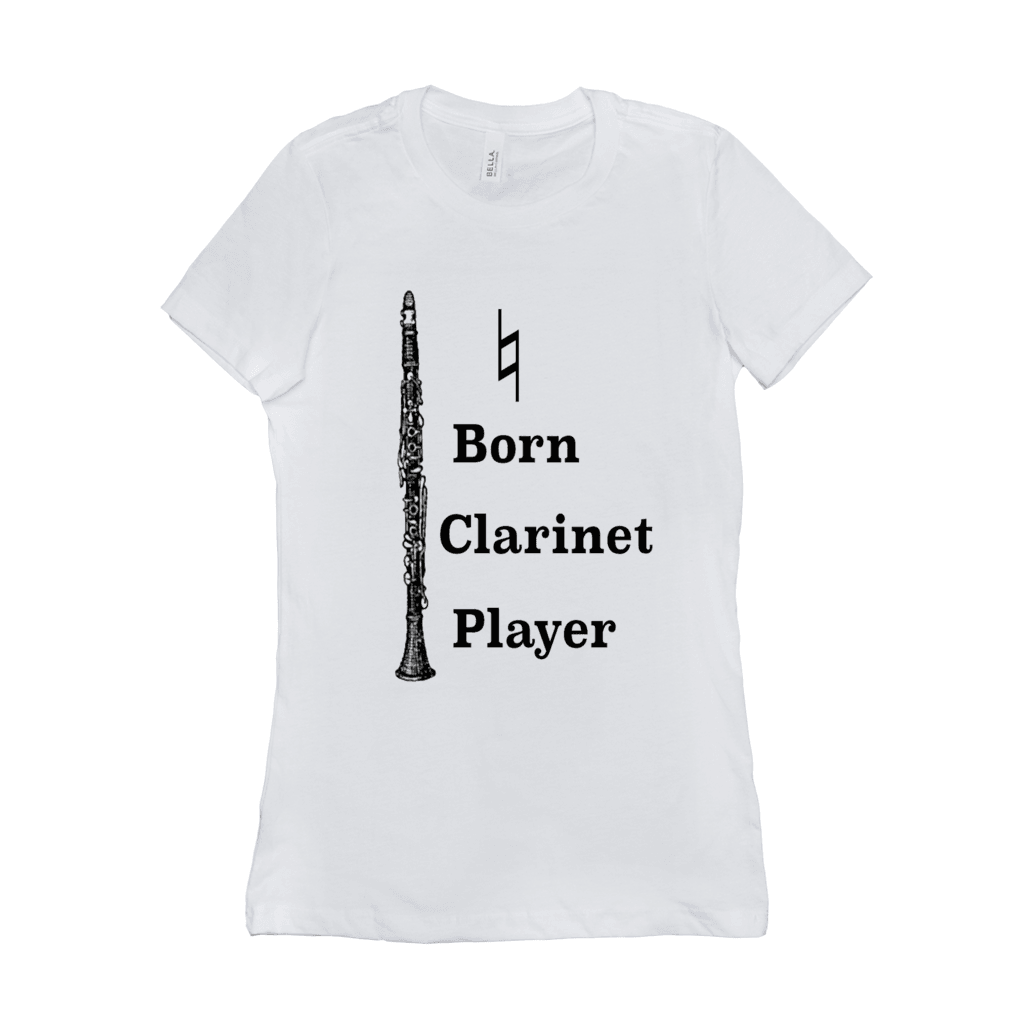 Clarinet T shirt - Natural Born Clarinet Player - Women's - Music For Little Learners