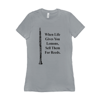 clarinet T-Shirt - When Life Gives You Lemons, Sell Them For Reeds - Women's