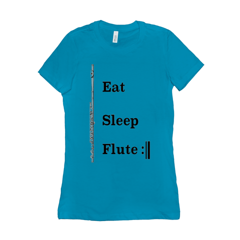 Flute Shirts - Eat Sleep Flute Repeat - Women's - Music For Little Learners