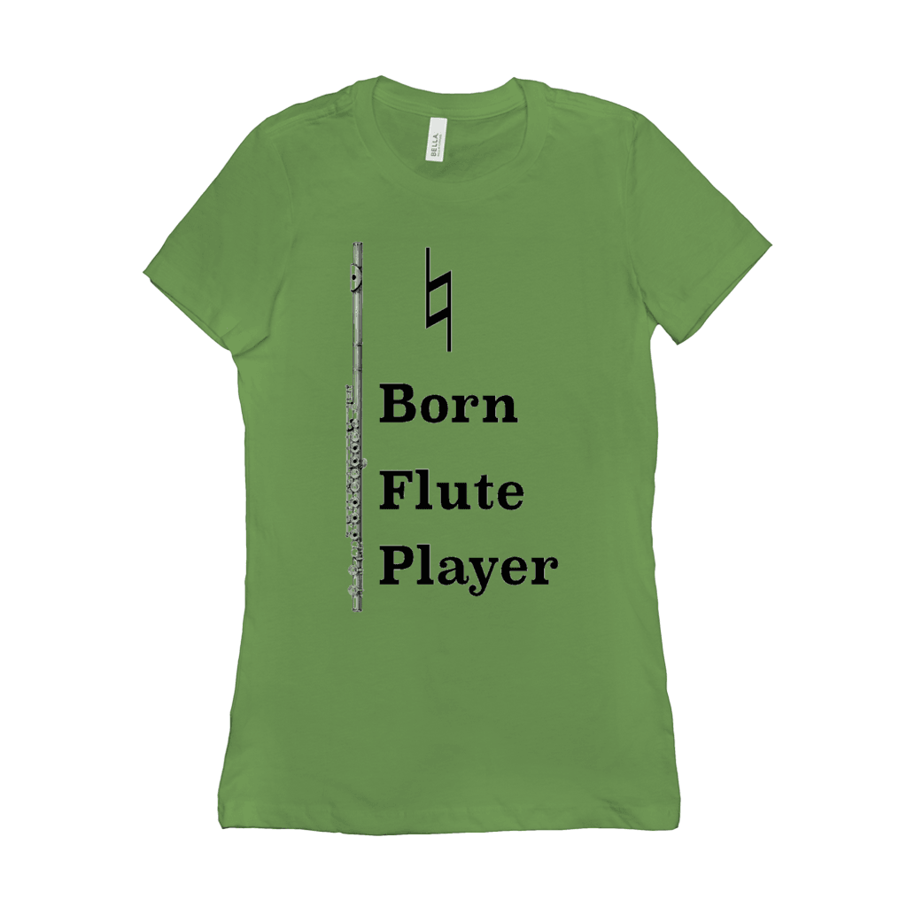 Flute Shirts - Natural Born Flute Player - Women's - Music For Little Learners