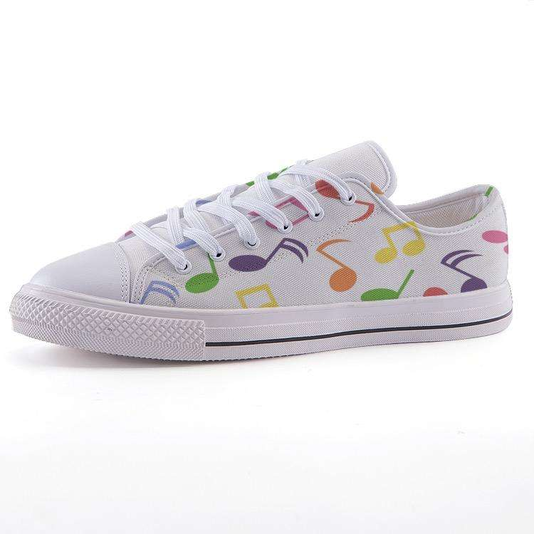 Low-top fashion canvas Music Note shoes - Music For Little Learners