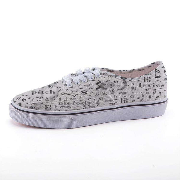 Low-top fashion canvas Music Note shoes