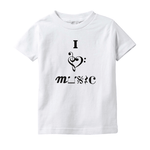 Music Baby Clothes - I Love Music- T-Shirts (Infant Sizes)