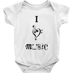 Music Baby Clothes - I Love Music