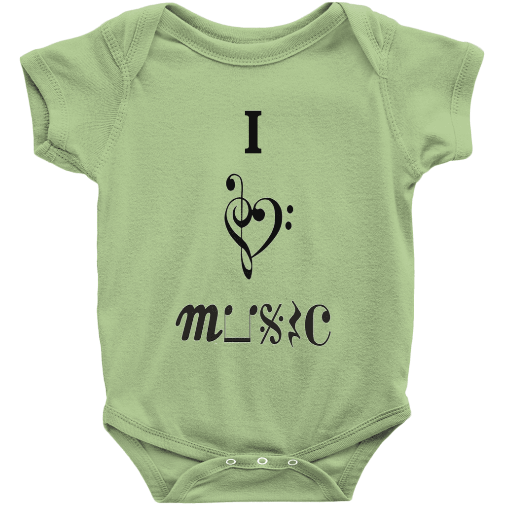 Music Baby Clothes - I Love Music - Music For Little Learners