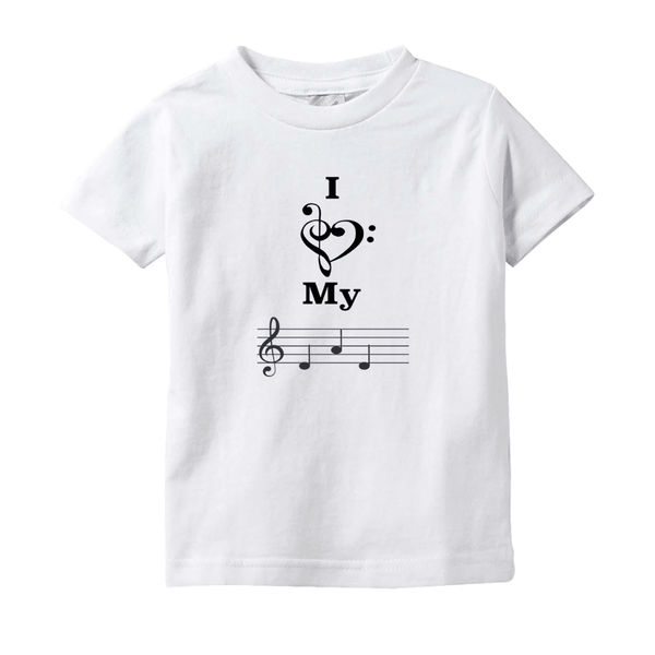 Music Baby Clothes - I Love My Dad -  T-Shirts (Infant Sizes)