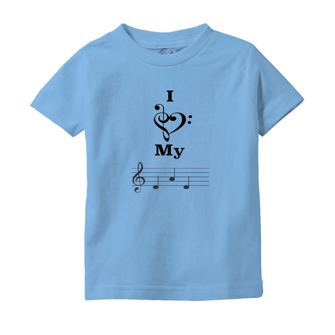 Music Baby Clothes - I Love My Dad -  T-Shirts (Infant Sizes) - Music For Little Learners