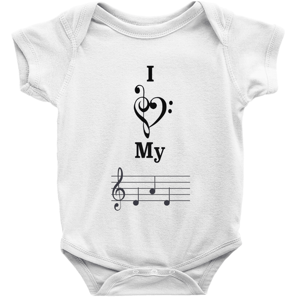 Music Baby Clothes - I Love My Dad