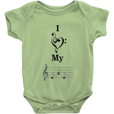 Music Baby Clothes - I Love My Dad - Music For Little Learners