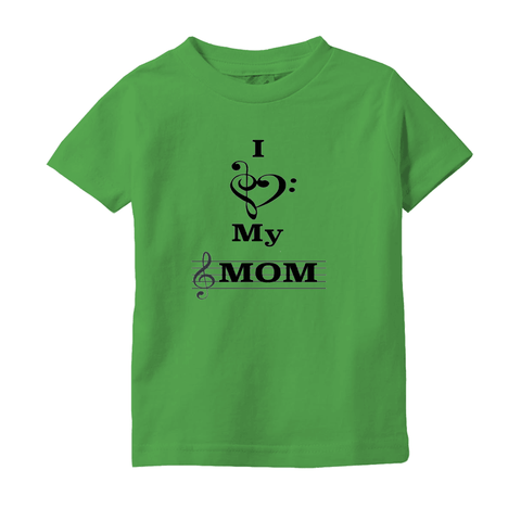 Music Baby Clothes - I Love My Mom - T-Shirts (Infant Sizes) - Music For Little Learners