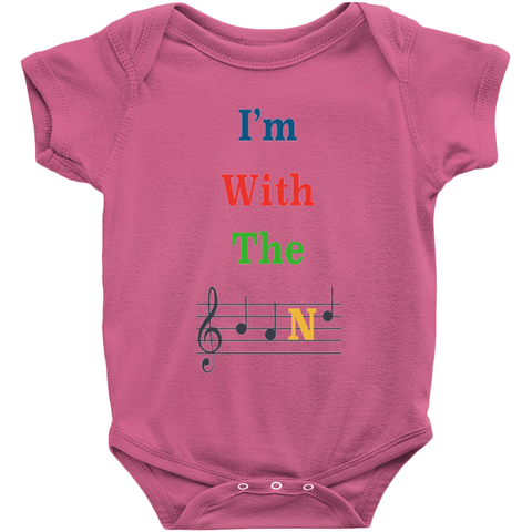 Music Baby Clothes - I'm With The Band - Music For Little Learners