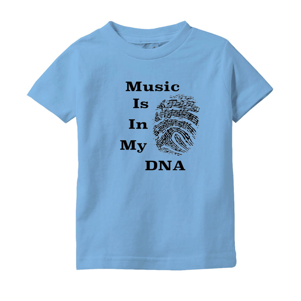 Music Baby Clothes - Music Is In My DNA - T-Shirts (Infant Sizes) - Music For Little Learners