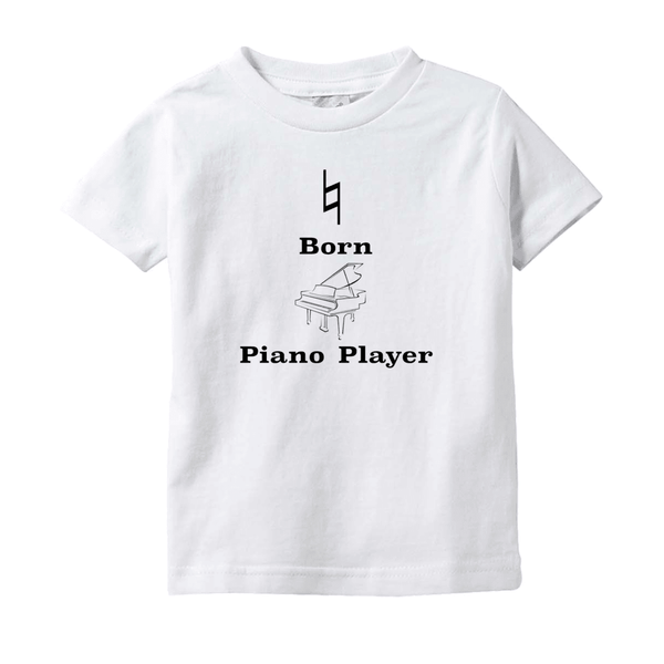 Music Baby Clothes - Natural Born Piano Player - T-Shirts (Infant Sizes)