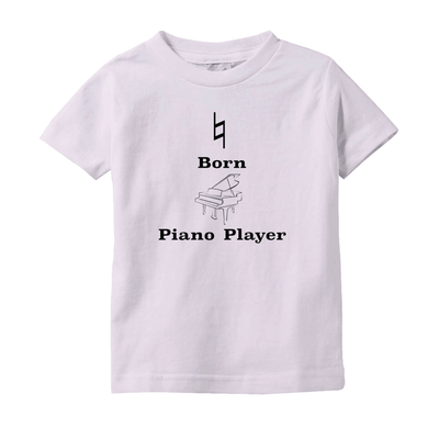 Music Baby Clothes - Natural Born Piano Player - T-Shirts (Infant Sizes) - Music For Little Learners