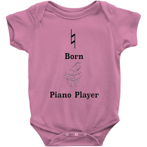 Music Baby Clothes - Natural Born Piano Player - Music For Little Learners