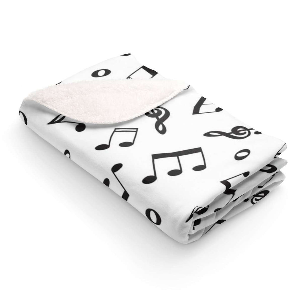 Music Home Decor - Sherpa Fleece Blanket - Music For Little Learners