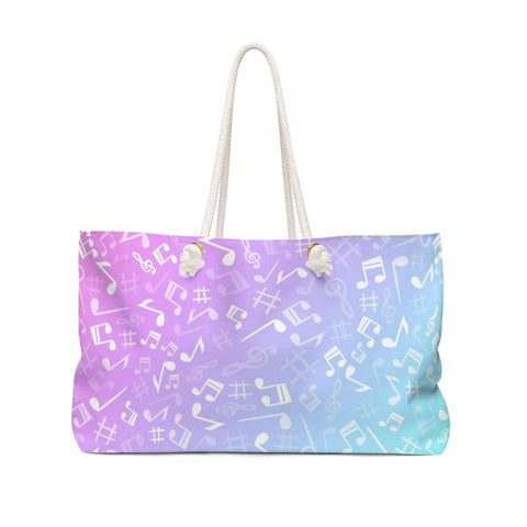 Music Note Bag - Weekender Tote - Music For Little Learners