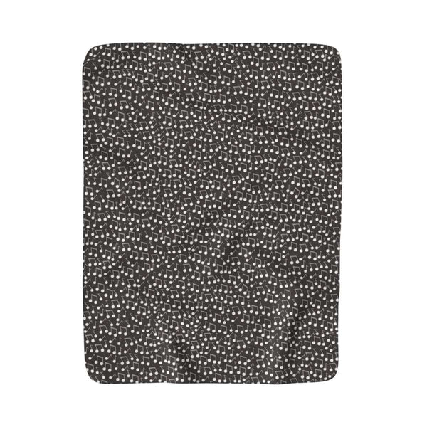 Music Note Blanket - Sherpa Fleece Blanket