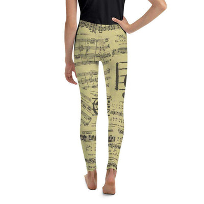 Music Note Leggings - Youth Leggings