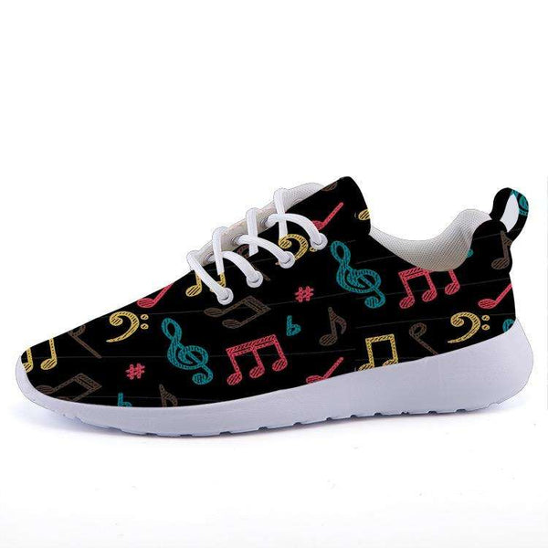 Music Note Shoes - Lightweight sneakers casual sports shoes