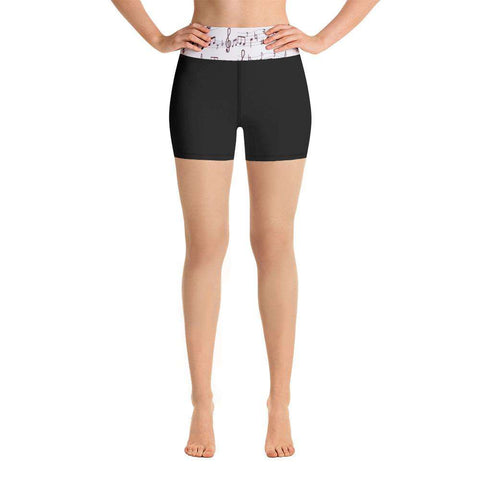 Music Note Shorts - Yoga Shorts
