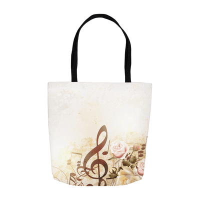 Music Note Tote Bag