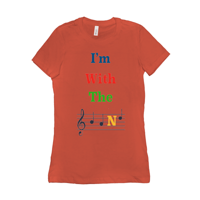 Music Themed T Shirts - I'm With The Band - Women's