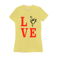 Music Themed T Shirts - Love Music - Women's