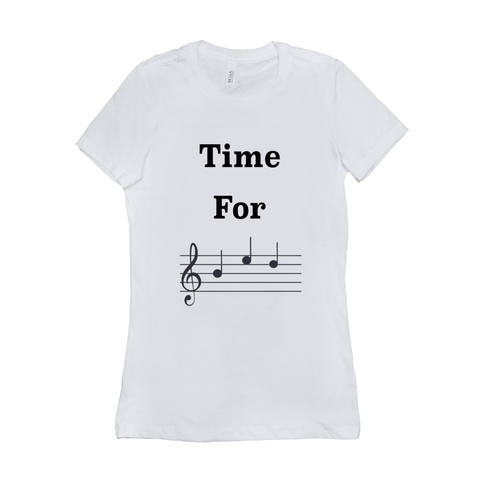 Music Themed T Shirts - Time For Bed - Women's