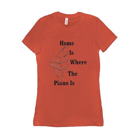 Piano Shirt - Home is where the piano is - Women's
