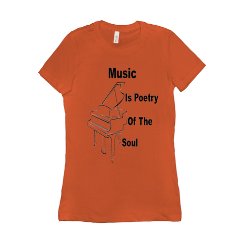 Piano Shirt - Music Is Poetry Of The Soul - Women's