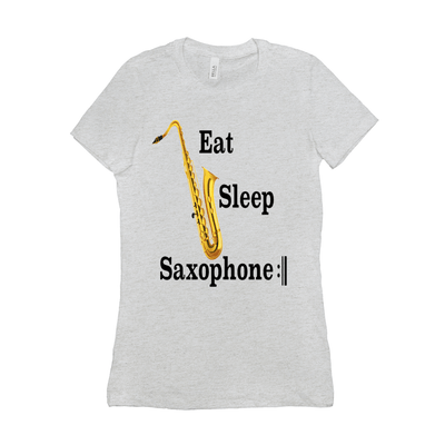 Saxophone T Shirt - Eat Sleep Saxophone Repeat - women's