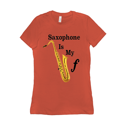 Saxophone T Shirt - Saxophone is my Forte - Women's
