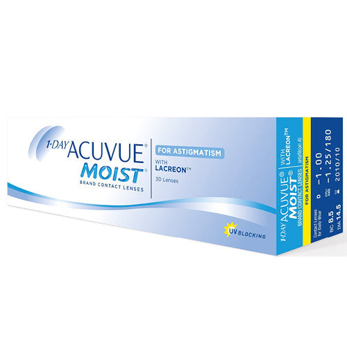 1-Day Acuvue Moist for Astigmatism 30 Pack