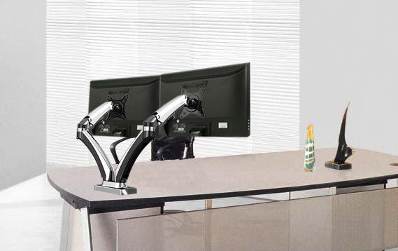 Dual Monitor Gas Arm 2MS-GN (Chrome finish)