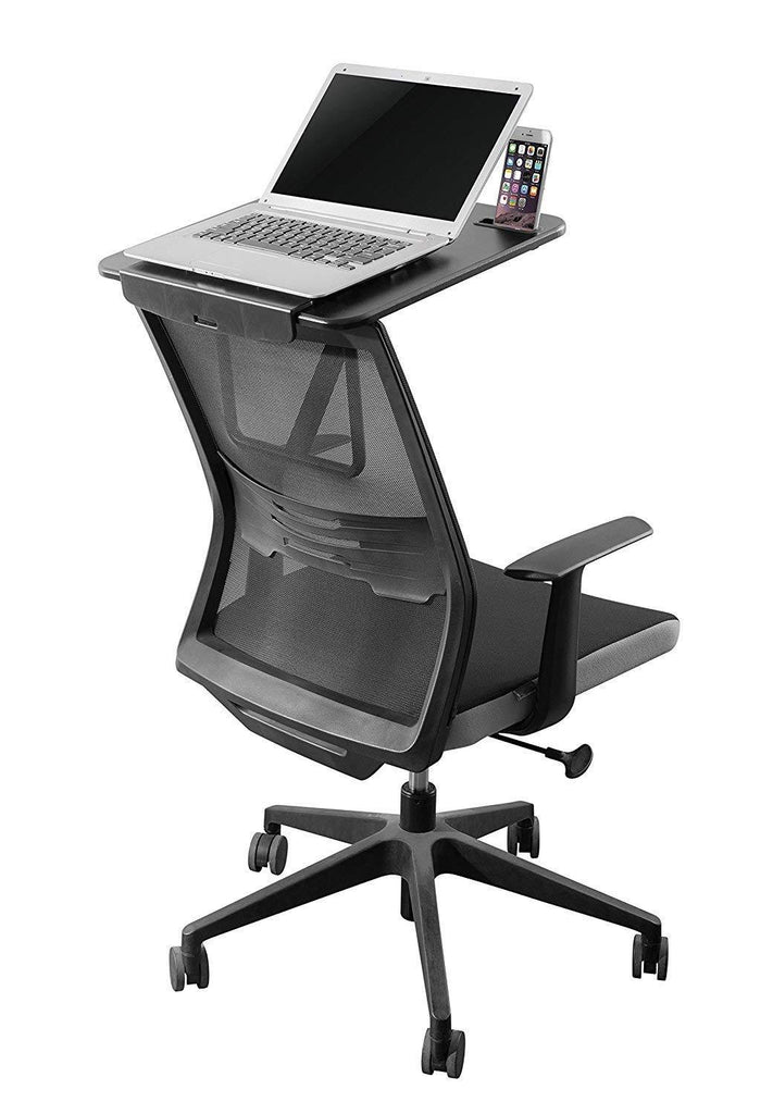 Chair to standing desk converter I affordable standing desk that attaches to your office chair I Portable Foldable standing desk