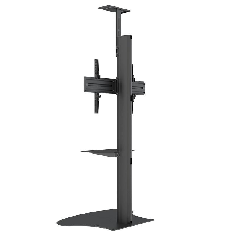 Heavy Duty TV Floor Stand Mount Bracket For TV Size up to 65 inch , LED Adjustable Height (Without wheels) Flat Screen Television Base Stand