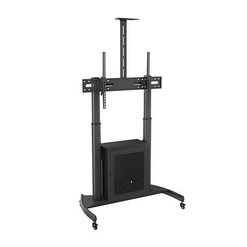 Height Adjustable TV Carts with Storage Cabinet model (TMC-L)