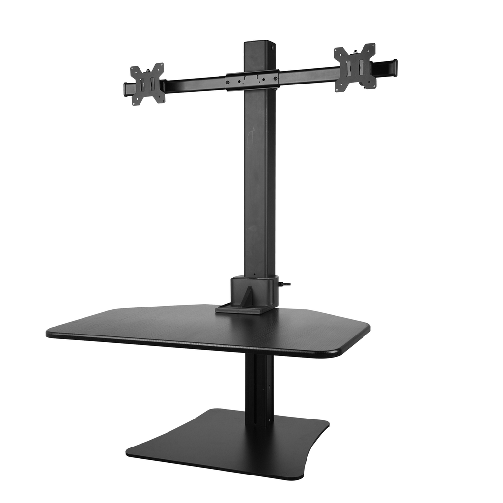 Height Adjustable Standing Desk for Dual Monitors