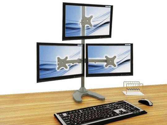 TRIPLE MONITOR STAND (FRREESTANDING) 3MS-F